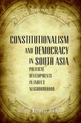 Cover for Constitutionalism and Democracy in South Asia