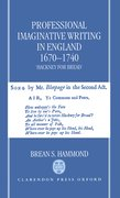 Cover for Professional Imaginative Writing in England, 1670-1740