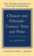 Cover for Chaucer and Fifteenth-Century Verse and Prose