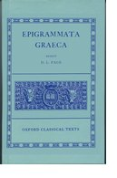 Cover for Epigrammata Graeca