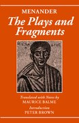 Cover for Menander: The Plays and Fragments