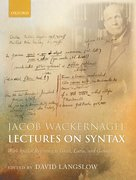 Cover for Jacob Wackernagel, Lectures on Syntax