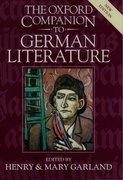 Cover for The Oxford Companion to German Literature