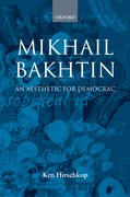 Cover for Mikhail Bakhtin