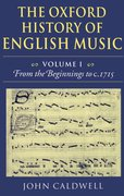 Cover for The Oxford History of English Music
