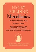 Cover for Miscellanies by Henry Fielding, Esq: Volume Three