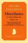 Cover for Miscellanies by Henry Fielding, Esq: Volume Two