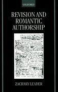 Cover for Revision and Romantic Authorship