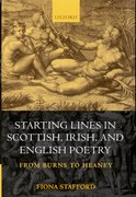 Cover for Starting Lines in Scottish, Irish, and English Poetry
