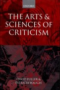 Cover for The Arts and Sciences of Criticism