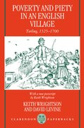 Cover for Poverty and Piety in an English Village