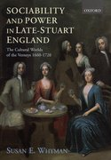 Cover for Sociability and Power in Late Stuart England