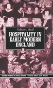Cover for Hospitality in Early Modern England