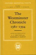Cover for The Westminister Chronicle, 1381-1394