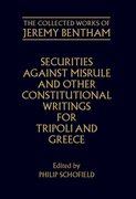 Cover for Securities Against Misrule and Other Constitutional Writings for Tripoli and Greece