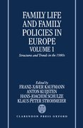 Cover for Family Life and Family Policies in Europe