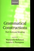 Cover for Grammatical Constructions