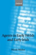 Cover for Agents in Early Welsh and Early Irish