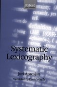Cover for Systematic Lexicography