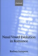 Cover for Nasal Vowel Evolution in Romance
