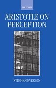 Cover for Aristotle on Perception