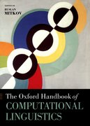 Cover for The Oxford Handbook of Computational Linguistics