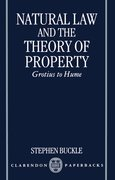 Cover for Natural Law and the Theory of Property