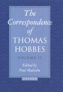 Cover for The Correspondence of Thomas Hobbes