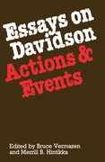 Cover for Essays on Davidson: Actions and Events