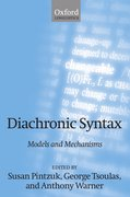 Cover for Diachronic Syntax