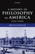 Cover for A History of Philosophy in America, 1720-2000
