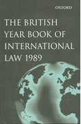 Cover for The British Year Book of International Law 1989