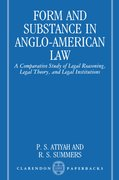 Cover for Form and Substance in Anglo-American Law
