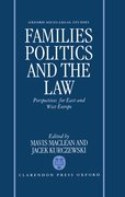 Cover for Families, Politics and the Law