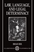 Cover for Law, Language, and Legal Determinacy