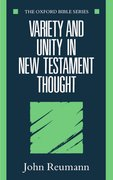 Cover for Variety and Unity in New Testament Thought