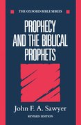 Cover for Prophecy and the Biblical Prophets