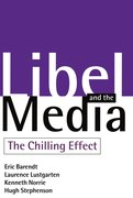 Cover for Libel and the Media