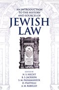 Cover for An Introduction to the History and Sources of Jewish Law