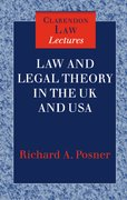 Cover for Law and Legal Theory in England and America