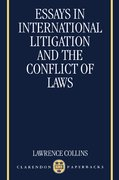 Cover for Essays in International Litigation and the Conflict of Laws