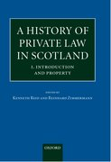 Cover for A History of Private Law in Scotland