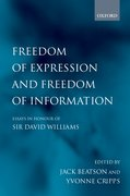 Cover for Freedom of Expression and Freedom of Information