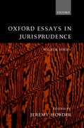 Cover for Oxford Essays in Jurisprudence