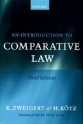 Cover for An Introduction to Comparative Law