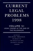 Cover for Current Legal Problems 1998