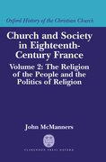 Cover for Church and Society in Eighteenth-Century France
