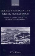 Cover for Verbal Syntax in the Greek Pentateuch