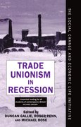 Cover for Trade Unionism in Recession