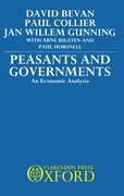 Cover for Peasants and Governments